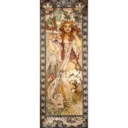 Reprodukcia obrazu Alfons Mucha - Maud Adams as Joan of Arc, 30 × 80 cm